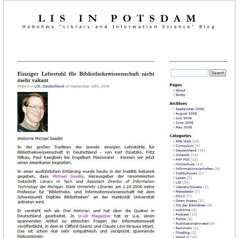 LIS in Potsdam Layout vor einem Jahr