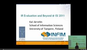 Kalervo Järvelin: Keynote auf der ISI2011