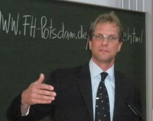 """Matthias Ballod 2009 auf der """"Berufsfeldtagung"""" in Potsdam"""