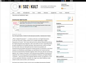 Screenshot H/SOZ/KULT vom 5.1.2015