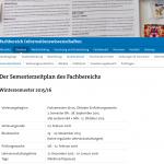 Fachbereichswebsite