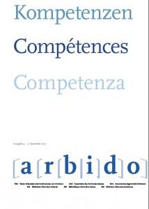 "Themenheft arbido 4.2015 ""Kompetenzen"""