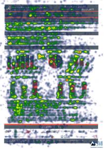 "Heatmap der probandenblicke im Projekt ""PoET"