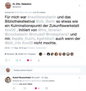 Tweet an > 20 Bibliothek2.0 Anhänger